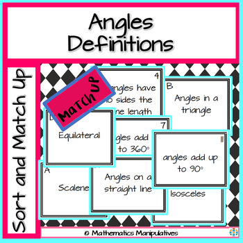 Geometry Angles Definition Match-Up