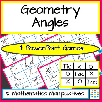 Geometry Angles Tic Tac Toe PowerPoint Games 1