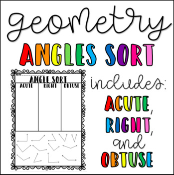 Geometry: Angles Sort!