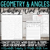 Math Vocabulary Word Search - Angle Relationships