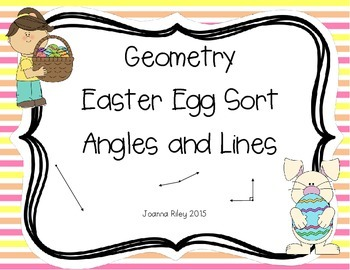 Geometry - Angles and Lines Easter Egg Sort
