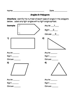 Geometry - Angles in Polygons