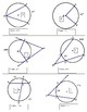 Geometry Angles in a Circle Activity