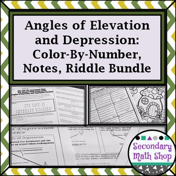 Right Triangle - Angles of Elevation & Depression Notes, P