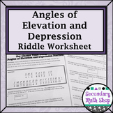 Radical Worksheets With Answers Pdf Trigonometry Homework Resources  Lesson Plans  Teachers Pay Teachers Angular And Linear Velocity Worksheet Word with Worksheets For 3 4 Year Olds Excel Right Triangles  Angles Of Elevation And Depression Riddle Practice  Worksheet Goldilocks And The Three Bears Worksheet Word