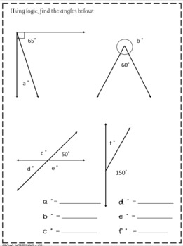 Geometry: Angles review