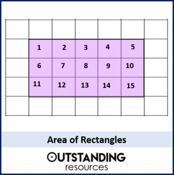 Geometry: Area 2 - Area of Rectangles (+ 2 differentiated worksheets)