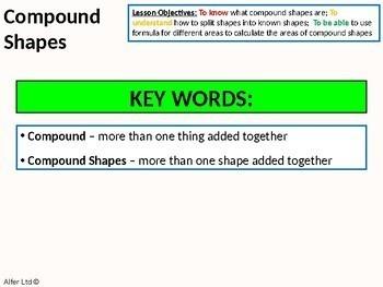 Geometry: Area 6 - Compound Area / Compound Shapes