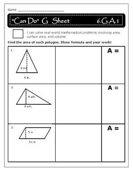 Geometry: Area - 6.G.A.1