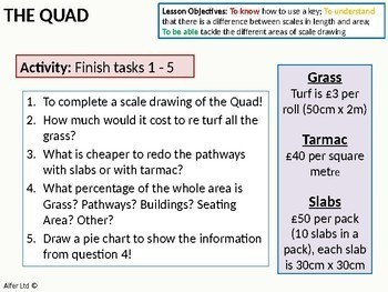 Geometry: Area 7 - Scale Drawing (functional lesson / rich task) + Resources