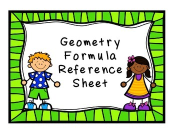 Geometry Area Formulas Reference Sheet