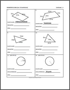 Geometry: Area & Perimeter