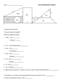 Geometry Area Perimeter Activity
