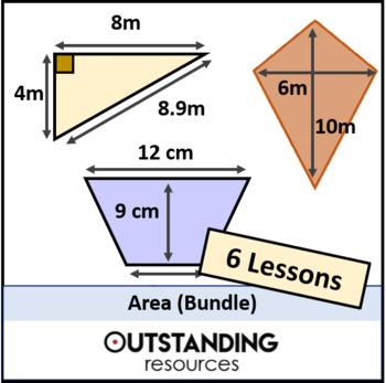 Geometry: Area & Perimeter Bundle (7 lessons)