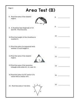 Geometry Area Test