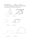 Geometry: Area, Volume, and Surface Area (review for test)
