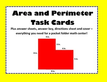 Geometry: Area and Perimeter Task Card Center