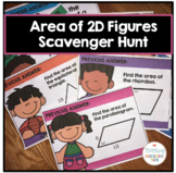 Geometry Area of 2D Figures Scavenger Hunt