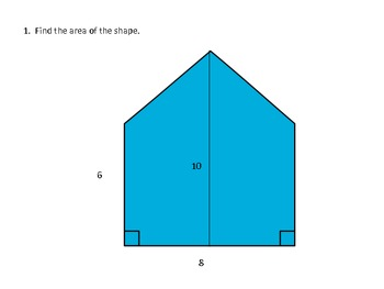 Geometry Area of Irregular Figures