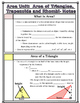 Area -  Area of Triangles, Trapezoids and Rhombi Notes and