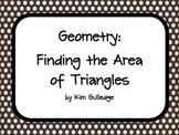 Geometry: Area of Triangles and QR Codes Task Cards