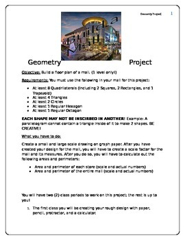 Geometry Areas Project - Build a Mall