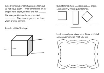 """""""Geometry Around Me"""" Booklet-2.G.A.1"""