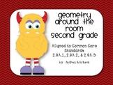 Geometry Around the Room - 2nd grade - 2.GA.1, 2.GA.2, 2.GA.3