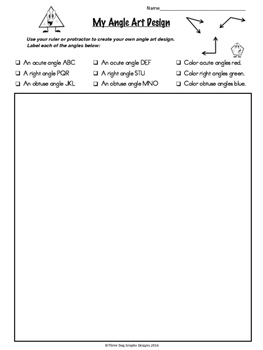 Geometry Art Design Bundle - A Fun Way to Reinforce Geometry Concepts