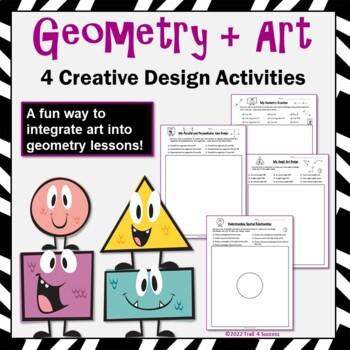 Geometry Art Design Bundle - A Fun Way to Reinforce Geomet