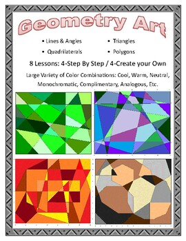Geometry Art - Lines, Angles, Triangles, Quadrilaterals, Polygons