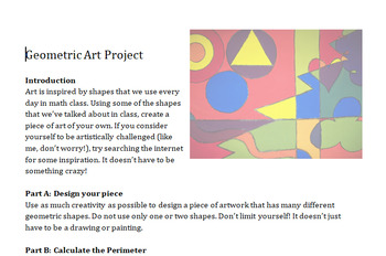 Geometry Art Project (Perimeter & Area)