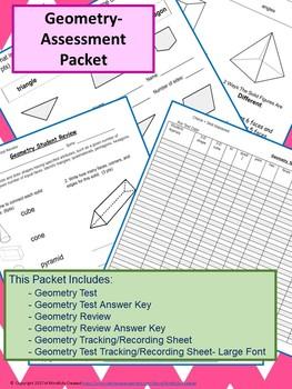Geometry Assessment Packet