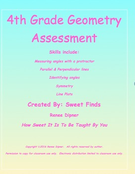 Geometry Assessment 4th Grade