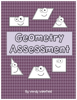 Geometry Assessment - 4th Grade Math Common Core