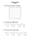 Geometry Assessment Grade 3