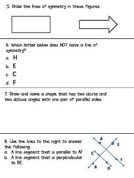 Geometry Assessment Pack