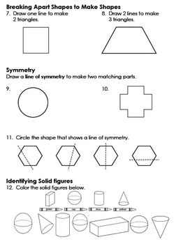 Geometry Assessment - Primary