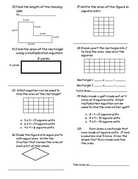 Geometry Assessment Unit (for use with Magic of Math 3rd Grade)