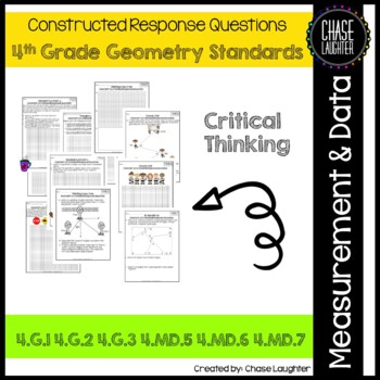 Geometry Constructed Response 4.G.1 ● 4.G.2 ● 4.G.3 ● 4.MD.5 ● 4.MD.6 ● 4.MD.7