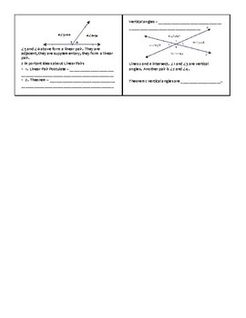 Geometry Assignment -- Beginning Angle Pairs; Complementary,Supplementary Angles