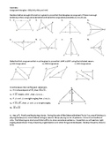 Geometry Assignment -- Congruent Triangles Proofs (Sort of..)