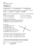 Geometry Assignment -- Midpoints and segment bisectors