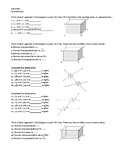 Geometry Assignment -- Parallel and skew lines; Angles for