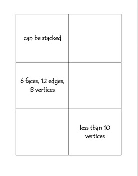 Geometry Attribute Sorting Cards