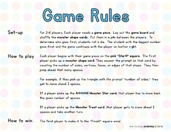 Geometry Attributes Game- 2D and 3D Shapes