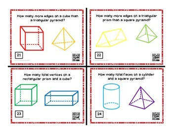 Geometry - Attributes of 2D and 3D Shapes (sides, edges, vertices, and faces)