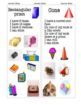 Geometry:  Attributes of 3-D Shapes