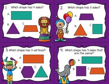Geometry Attributes of Shapes Game and Printables
