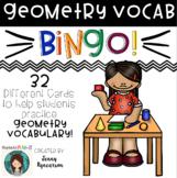 Geometry BINGO! 32 Different Cards!!! Practice Math Vocabulary!